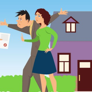 act of forceful sale of a property