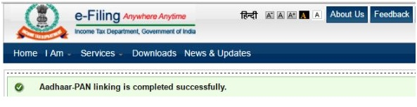 aadhar linking with pan