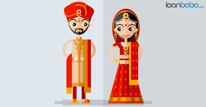Indian couple on wedding