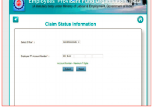 PF Claim Status Information